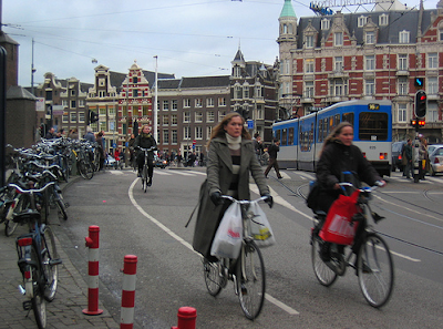 Image of bicyclists in Amsterdam