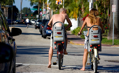 Image of bicycling couple in Miami FL