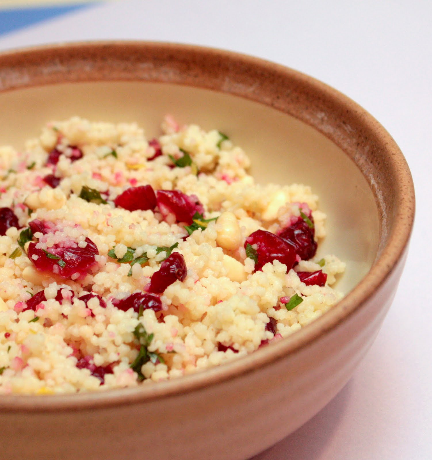 APPLE A DAY: Couscous with Dried Cranberries and Pine Nuts
