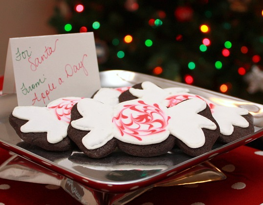 ... DAY: 31 While 31--Chocolate Peppermint Cookies with Royal Icing