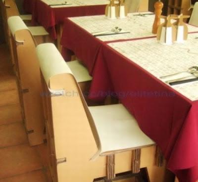 Perabot Restoran Dari Karton Sheet