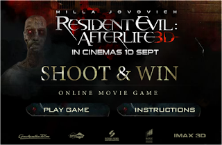 Resident Evil: Afterlife 'Shoot and Win' Contest