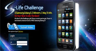 Samsung Mobile 'Life Challenge' Contest