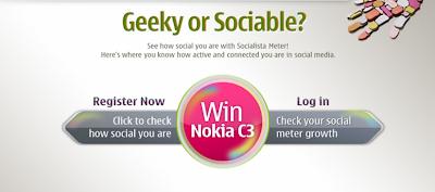 Nokia C3 'Socialista Meter' Contest