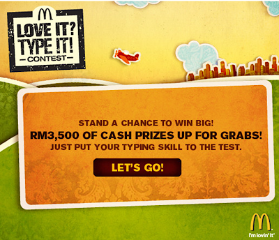 McDonald's 'Love It? Type It!' Contest