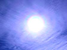 Arco iris en el sol