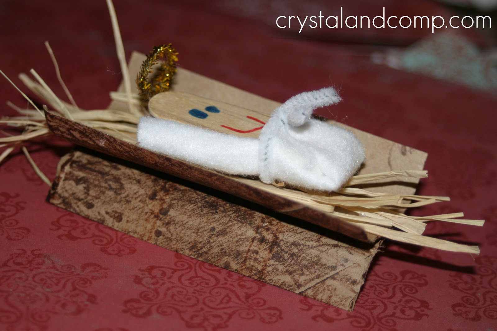 how to make baby jesus and a manger preschool craft