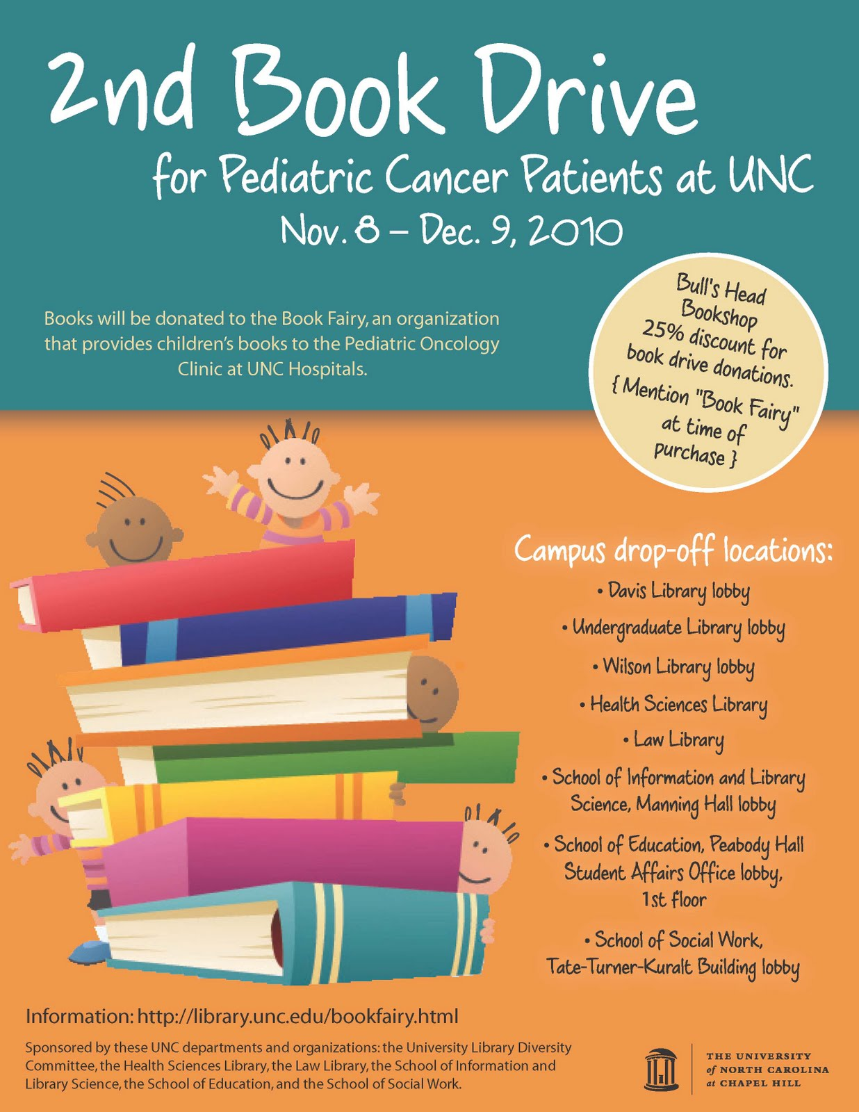 The Common Curator: Book Drive for UNC Pediatric Cancer ...