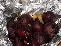 Roasted beets right out of the oven