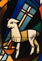 Agnus Dei stained glass