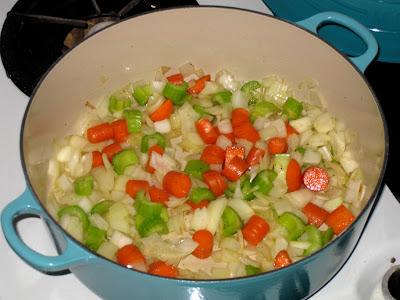 Sweating the mirepoix