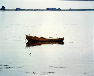 Old fisherman's rowboat, Strib, Fyn, Denmark