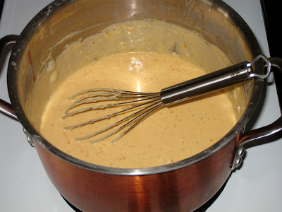 Stir sauce until cheese is completely melted
