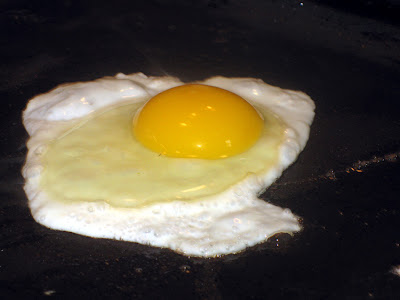 A frying egg