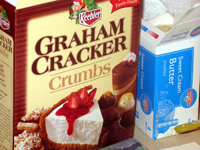 Box of graham cracker crumbs