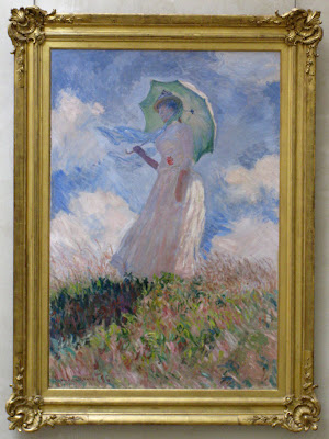 """Woman With Parasol Turned to Left"" - Claude Monet"
