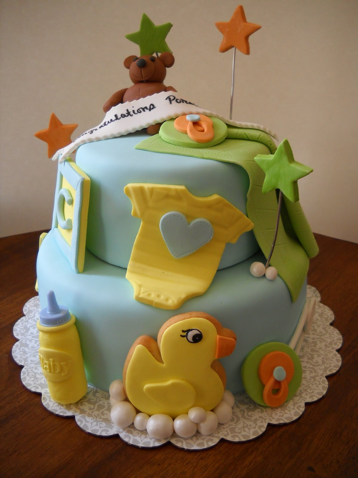 Tara s Piece of Cake: Boy Babyshower Cake