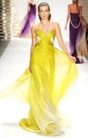 Vestidos amarillos para fiestas elegantes