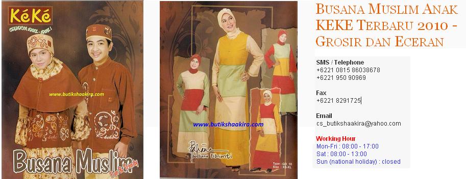Busana Muslim Anak KEKE Terbaru 2010 - Grosir dan Eceran