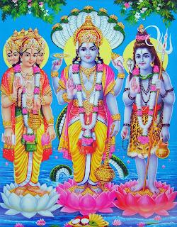 Brahma, vishnu y Shiva