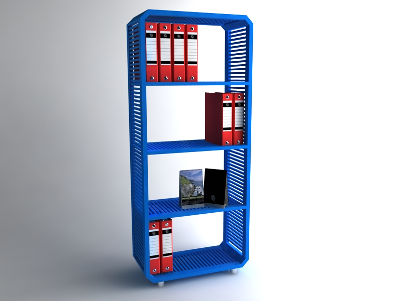 inovative bookcase with waste wood concept design