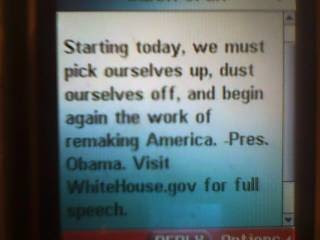 0121092106 784890 Mr. President Obama TXT me today!
