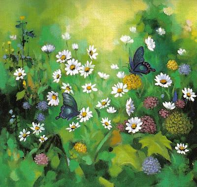 Mariposas y margaritas-Kun-Shan Hsieh