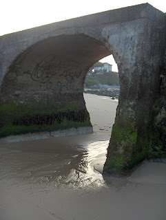 casa en el palacio desde otro ojo del puente