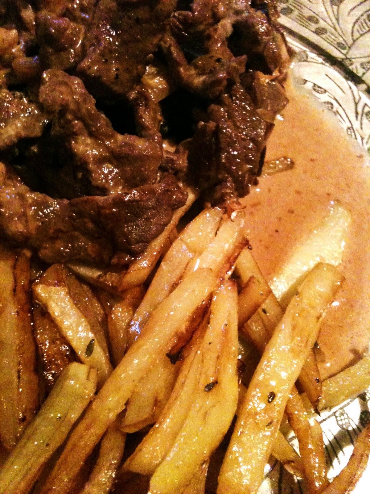 stekt lövbiff potatis recept