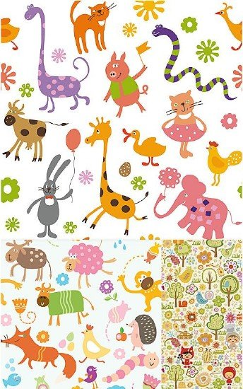 Children Backgrounds 4 EPS | 56 Mb