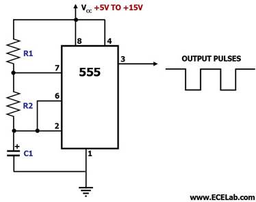 ready to help astable multivibrator using ic 555astable multivibrator using ic 555 this circuit diagram