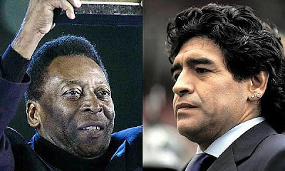 Legends face off: Brazil star Pelé and Argentina's Diego Maradona