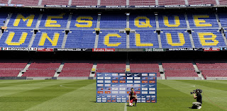 PRESENTATION OF DAVID VILLA AT CAMP NOU