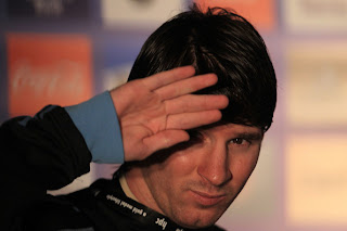 Lionel Messi of Argentina's national football team speaks to the media during a press conference on June 13, 2010 in Pretoria, South Africa.
