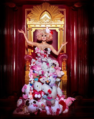Lady Gaga had this Hello Kitty shoot and this shoot she did was all with her