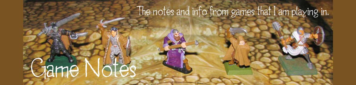 My Game Notes