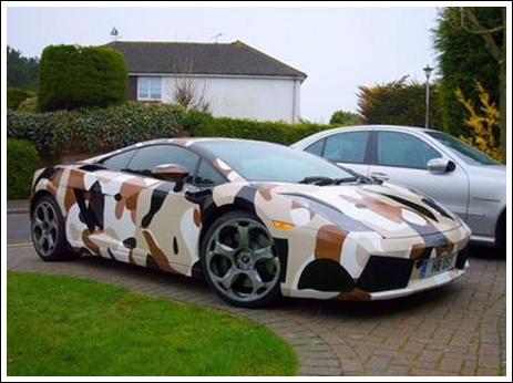 Cool Camouflage Car Seen On www.coolpicturegallery.net
