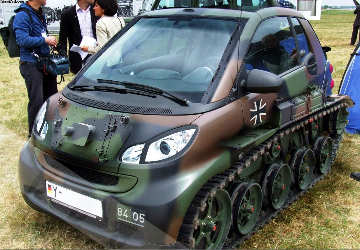 Matte Black Vinyl Car Wrap Cost Tank! Amazing Modded Smart Car