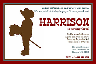 {focus_keyword} Harrison's 3rd Birthday Party! Cowboy