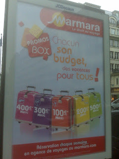 Marmara suitcase advertisement in Paris