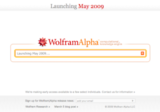 Wolfram Alpha Search Engine Screen Capture