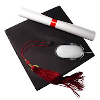 Distance Learning Mouse & Academic Cap