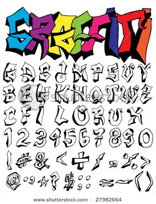 Example graffiti alphabet a-z.