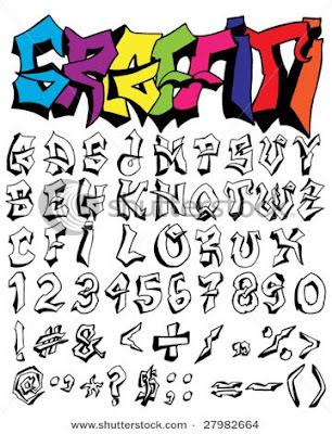 Example graffiti alphabet a-z.