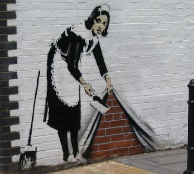 banksy graffiti artwork. 3D Banksy Graffiti On The