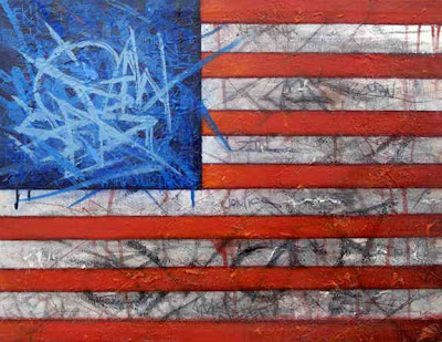 ART OF Graffiti, Graffiti waving American flag graphics
