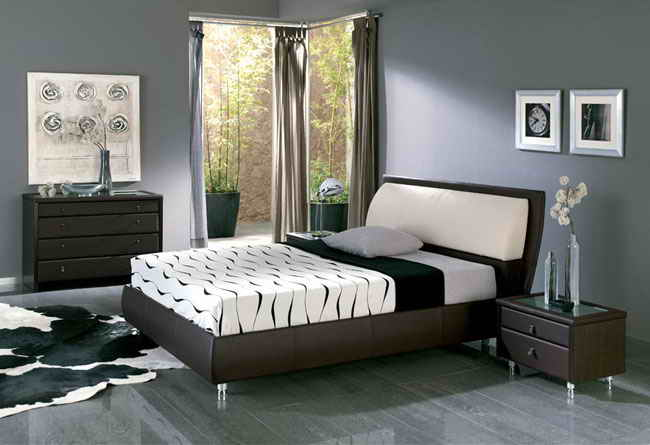 Make beautiful minimalist house for Bedroom designs with dark wood furniture