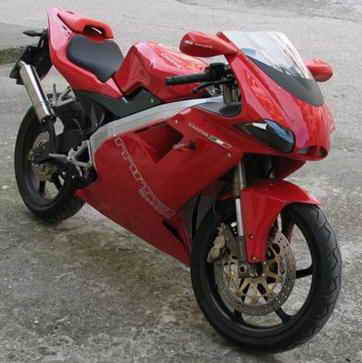 Cagiva 125cc. Cagiva name may be lost than
