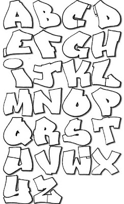 Graffiti Alphabet Sketches Bubble