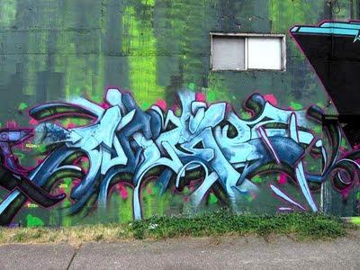 Blue-GREEN Stack Graffiti Alphabet